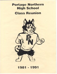 Portage Northern High School - Class Reunion - 1981-1991